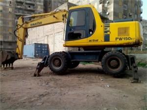 Máy đào bánh lốp komatsu PW150